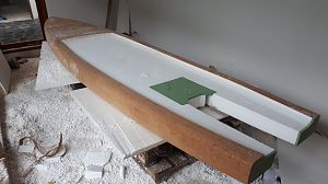 Indo skiff cockpit (before deck skin)