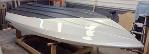 Sidewinder 16SS racing boat bottom finish