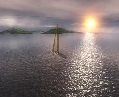render sailboat 3ds max