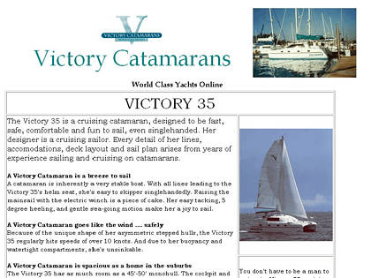 Cached version of Victory Catamarans
