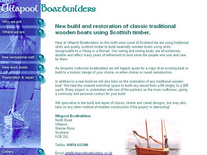 Cached version of Ullapool Boatbuilders