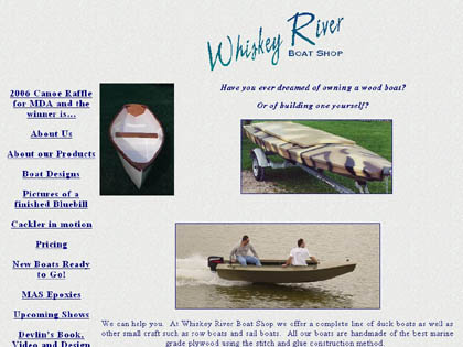 Cached version of Whiskey River Boat Shop