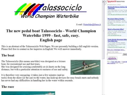 Cached version of Talassociclo Waterbike