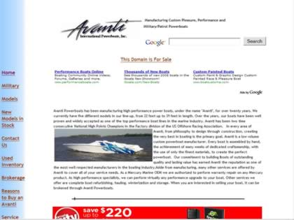 Cached version of Avanti Powerboats