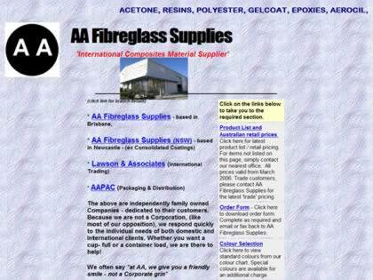 Cached version of AA Fibreglass Supplies