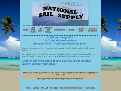 Cached version of National Sail Supply