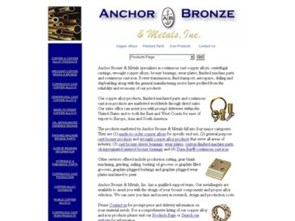 Cached version of Anchor Bronze & Metals