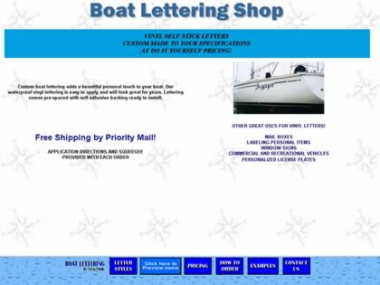 Cached version of Boat Lettering