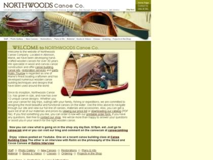 Cached version of Northwoods Canoe Company