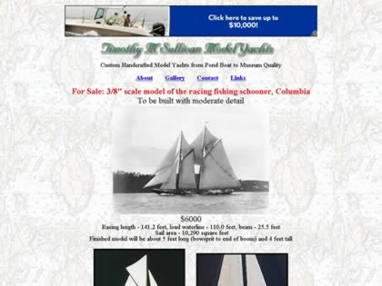 Cached version of Timothy M Sullivan Model Yachts