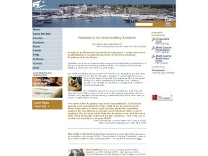 Cached version of Lyme Regis International School of Boatbuilding