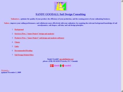 Cached version of Sandy Goodall Sail Design Consulting