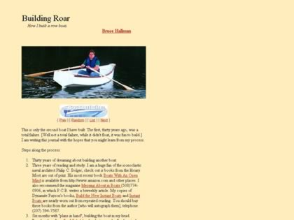 Cached version of Building Roar, a plywood rowboat.