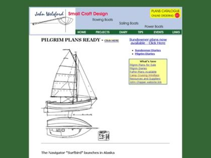 Cached version of John Welsford's Small Boat Designs