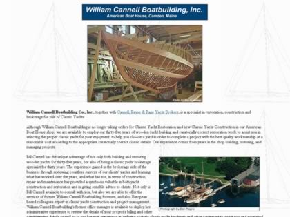 Cached version of William Cannell Boatbuilding Co