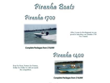 Cached version of Piranha Boats