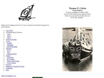 Cached version of Thomas E. Colvin Naval Architect