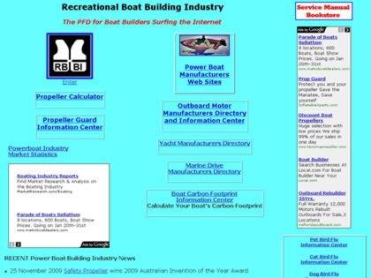 Cached version of Recreational Boat Building Industry