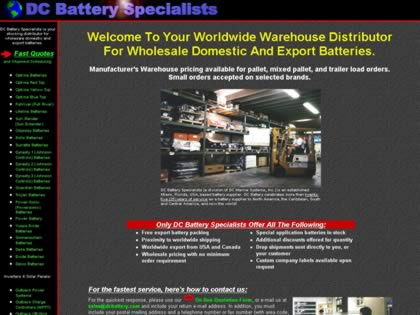 Cached version of DC Battery Specialists