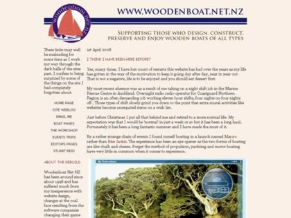 Cached version of Woodenboat.net.nz