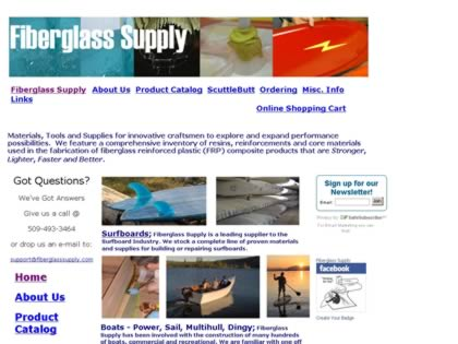 Cached version of Fiberglass Supply, Inc.