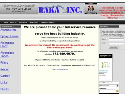 Cached version of Raka Boatbuilding Products