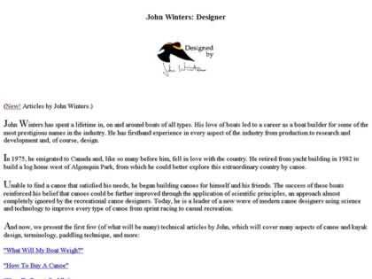 Cached version of John Winters Designer