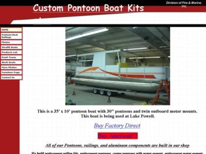 Cached version of Custom Pontoon Boat Kits etc.