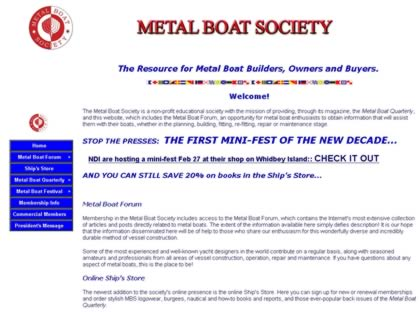 Cached version of Metal Boat Society