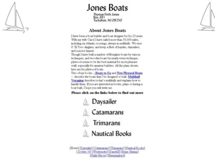 Cached version of Jones Boats