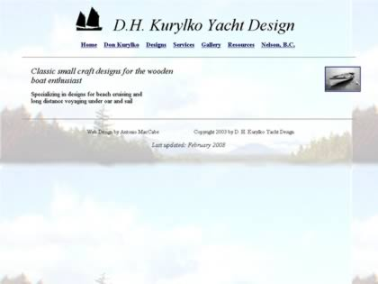 Cached version of D.H. Kurylko Yacht Design