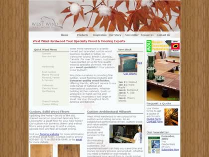 Cached version of West Wind Hardwood Inc.