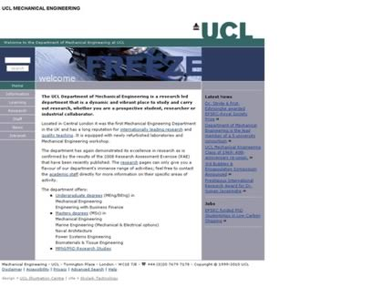 Cached version of University College London