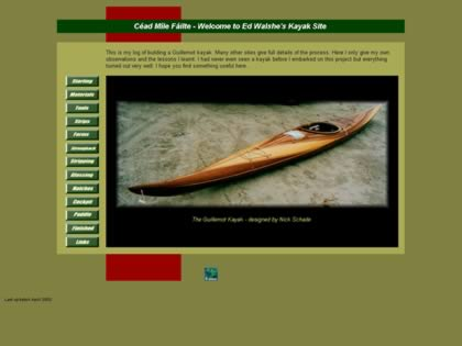 Cached version of Ed Walshes Kayak Site