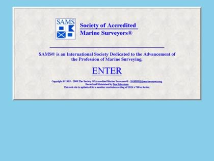 Cached version of Society of Accredited Marine Surveyors