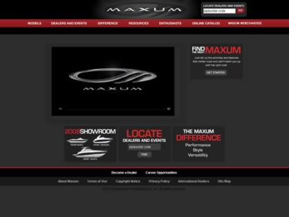Cached version of Maxum Boats