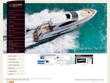 Cached version of Lazzara Yachts