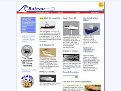 Cached version of Bateau Boat Plans OnLine