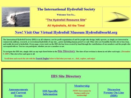 Cached version of The International Hydrofoil Society