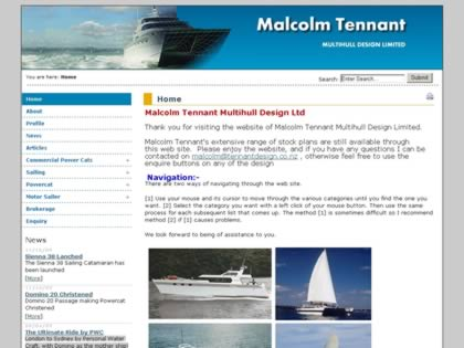 Cached version of Malcolm Tennant Multihull Design Ltd