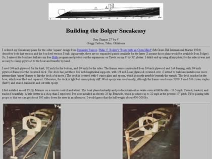 Cached version of Building the Bolger Sneakeasy