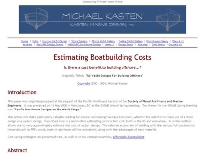 Cached version of Estimating Boat Building Costs