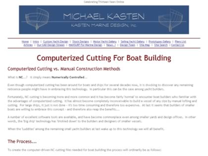 Cached version of Computer Cutting For Boat Building