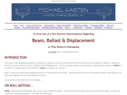 Cached version of Beam vs. Ballast for Seakeeping