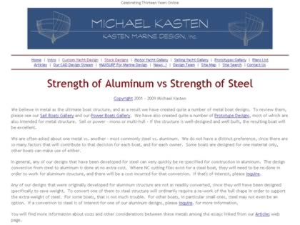 Cached version of Aluminum vs. Steel