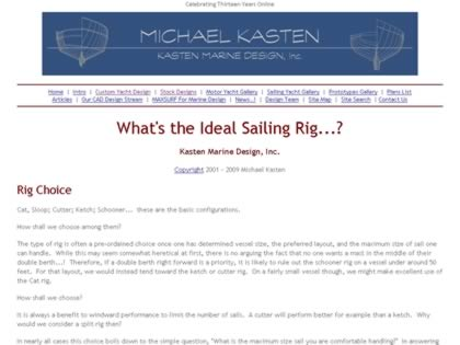 Cached version of What's the Ideal Sailing Rig?