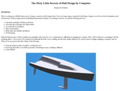 Cached version of The Dirty Little Secrets of Hull Design by Computer