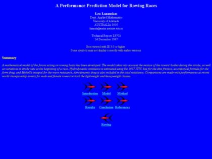Cached version of A Performance Prediction Model for Rowing Races