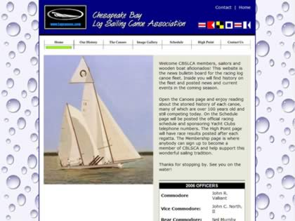 Cached version of Log Sailing Canoe Association