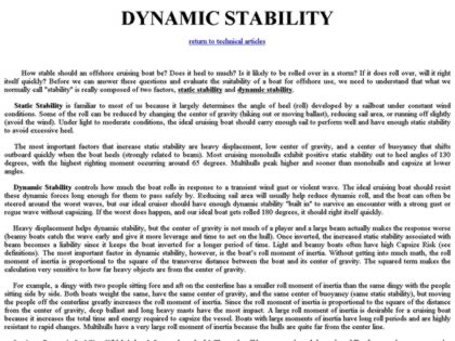 Cached version of Dynamic Stability